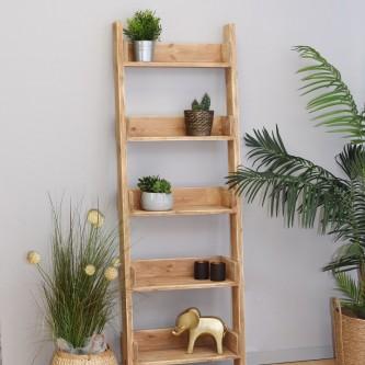 Ladder shelf GEORGETTE solid wood
