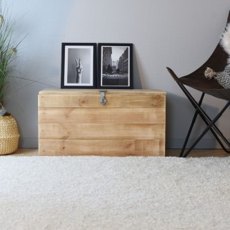 Wooden chest HUGO solid wood
