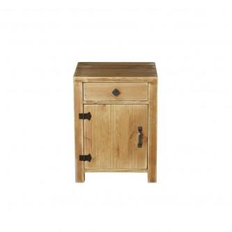 Table de chevet COLETTE 1 tiroir 1 porte en bois massif