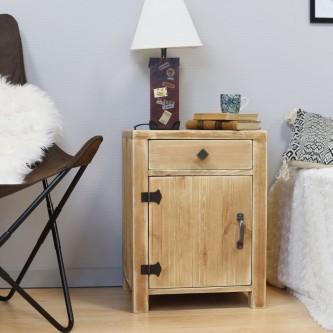 Bedside table COLETTE 1 drawer 1 door solid wood