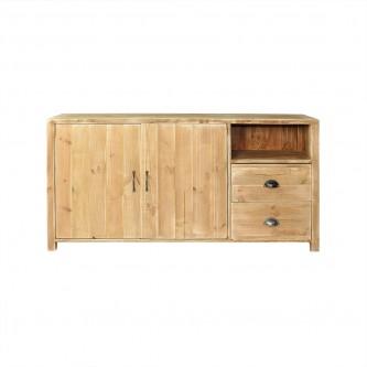 Buffet LOUIS 2 portes 2 tiroirs en bois massif