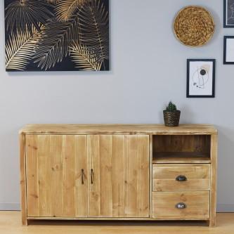 Sideboard LOUIS 2 doors 2 drawers solid wood