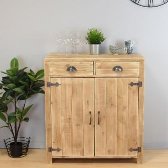 Sideboard LUCIEN 2 doors 2 drawers solid wood