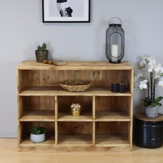 7 cube shelf unit LEA solid wood