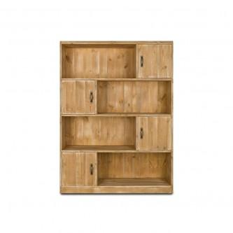 Etagère casiers et portes LOUISE en bois massif
