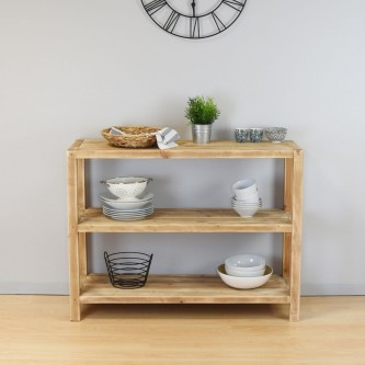 Console MADELEINE 3 level solid wood