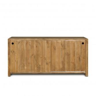 Buffet long contemporain GERMAIN 2 portes en bois massif