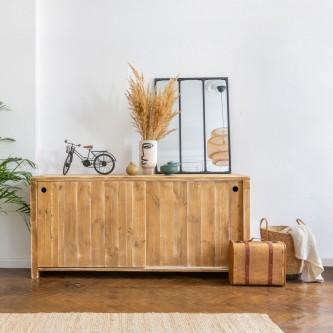 Long sideboard GERMAIN 2 doors solid wood