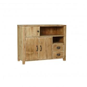 Buffet LEOPOLD 3 portes 2 tiroirs en bois massif