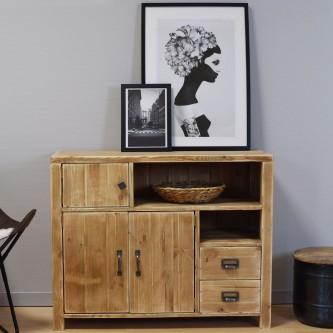 Sideboard LEOPOLD 3 doors 2 drawers solid wood