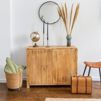 Contemporary sideboard EDMOND 2 doors solid wood