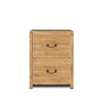 Meuble bas de cuisine EMILE, 2 tiroirs, en bois massif