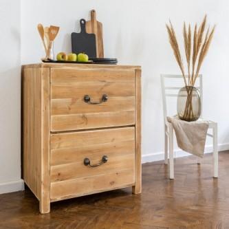 Kitchen base cabinet EMILE 2 drawers solid wood