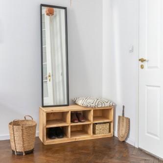 Entrance hall cabinet BASILE 6 cube solid wood