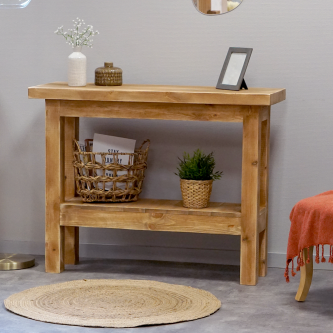 Console table workbench JEAN solid wood